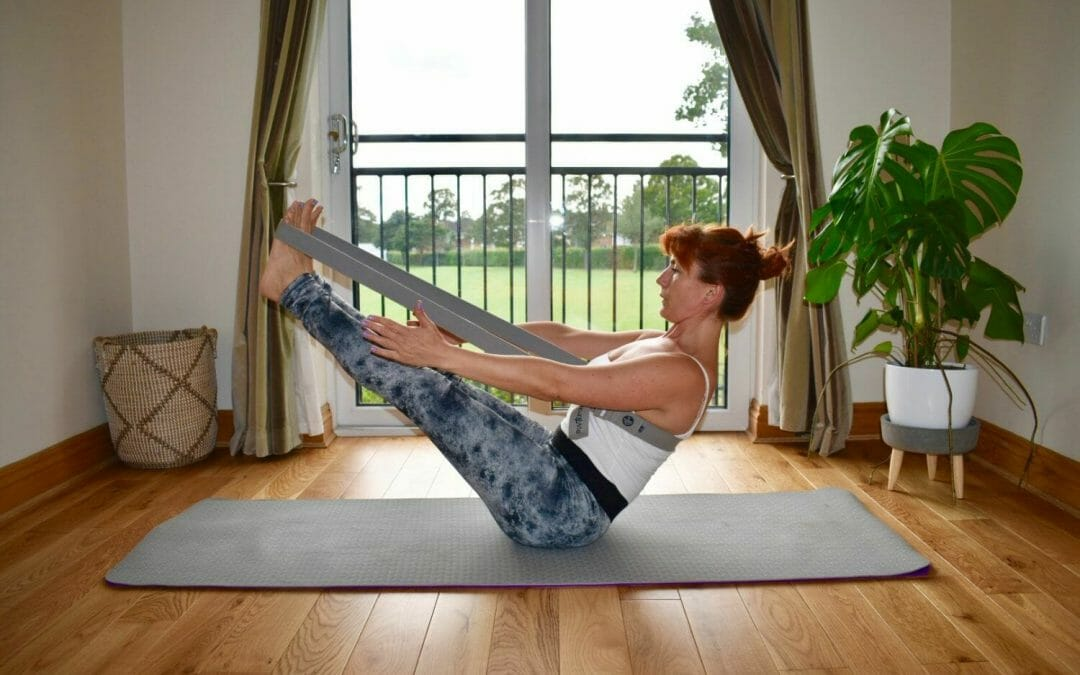 Boat Pose with with Align Yoga Strap
